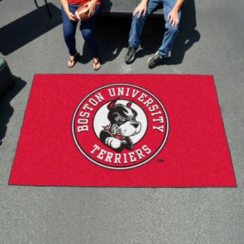 "59.5"" x 94.5"" Boston University Red Rectangle Ulti Mat"