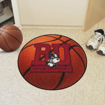 """27"""" Boston University Basketball Style Round Mat"""