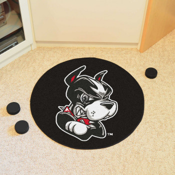 "27"" Boston University Puck Round Mat - ""Terrier"" Logo"
