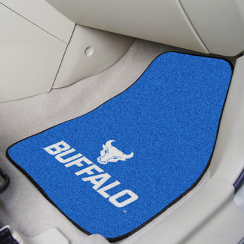 State University of New York at Buffalo Blue Carpet Car Mat, Set of 2