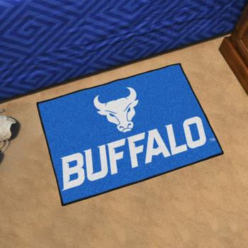 "19"" x 30"" State University of New York at Buffalo Blue Rectangle Starter Mat"