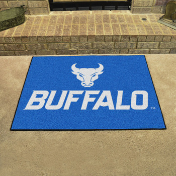 """33.75"""" x 42.5"""" State University of New York at Buffalo All Star Blue Rectangle Mat"""