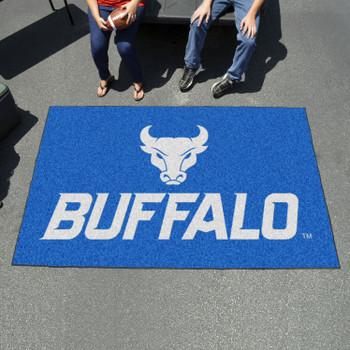 """59.5"""" x 94.5"""" State University of New York at Buffalo Blue Rectangle Ulti Mat"""