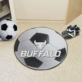 "27"" State University of New York at Buffalo Soccer Ball Round Mat"