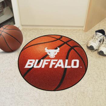 """27"""" State University of New York at Buffalo Basketball Style Round Mat"""