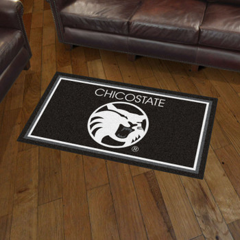 3' x 5' Cal State - Chico Black Rectangle Rug