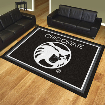 8' x 10' Cal State Chico Black Rectangle Rug