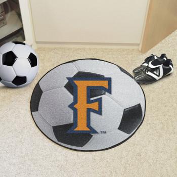 "27"" Cal State - Fullerton Soccer Ball Round Mat"