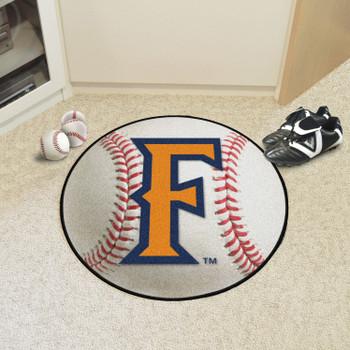 "27"" Cal State - Fullerton Baseball Style Round Mat"