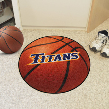 """27"""" Cal State - Fullerton Basketball Style Round Mat"""
