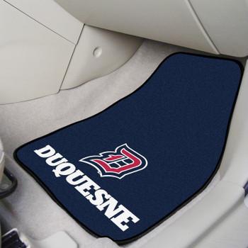 Duquesne University Carpet Car Mat, Set of 2