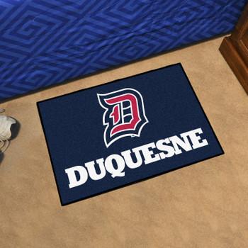 """19"""" x 30"""" Duquesne University Navy Blue Rectangle Starter Mat"""