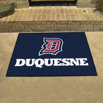 """33.75"""" x 42.5"""" Duquesne University All Star Navy Blue Rectangle Mat"""