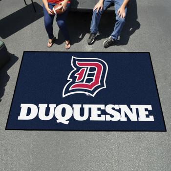 "59.5"" x 94.5"" Duquesne University Navy Blue Rectangle Ulti Mat"
