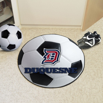 """27"""" Duquesne University Soccer Ball Round Mat"""