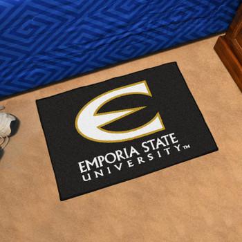 "19"" x 30"" Emporia State University Black Rectangle Starter Mat"