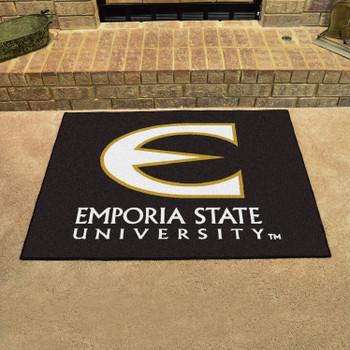 "33.75"" x 42.5"" Emporia State University All Star Black Rectangle Mat"