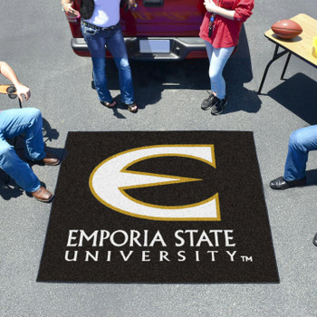 "59.5"" x 71"" Emporia State University Black Tailgater Mat"