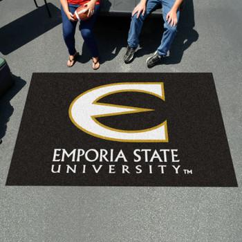"59.5"" x 94.5"" Emporia State University Black Rectangle Ulti Mat"