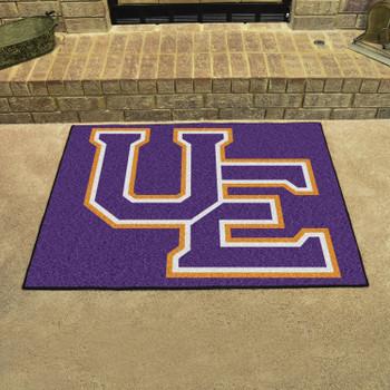 """33.75"""" x 42.5"""" University of Evansville All Star Black Rectangle Mat"""