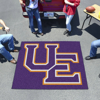 """59.5"""" x 71"""" University of Evansville Black Tailgater Mat"""