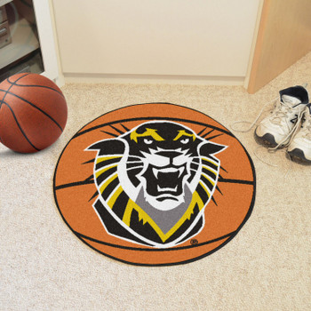 """27"""" Fort Hays State University Basketball Style Round Mat"""
