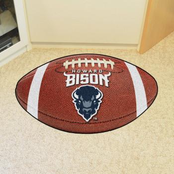 """20.5"""" x 32.5"""" Howard University Football Shape Mat"""