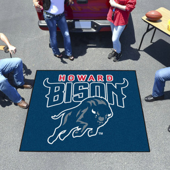 """59.5"""" x 71"""" Howard University Navy Blue Tailgater Mat"""