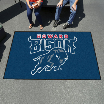 "59.5"" x 94.5"" Howard University Navy Blue Rectangle Ulti Mat"