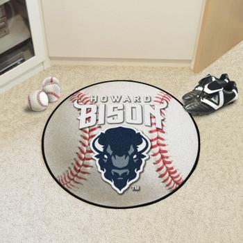 "27"" Howard University Baseball Style Round Mat"