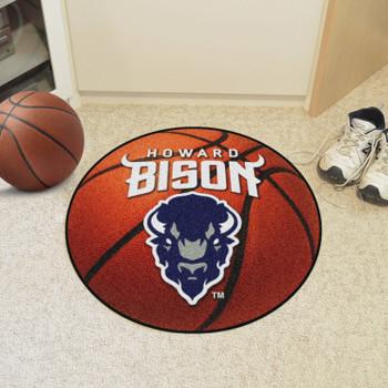 "27"" Howard University Basketball Style Round Mat"