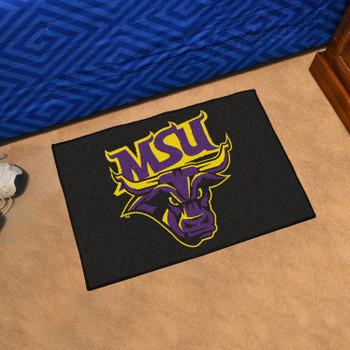 "19"" x 30"" Minnesota State University - Mankato Black Rectangle Starter Mat"