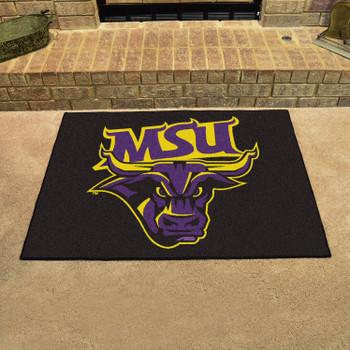 "33.75"" x 42.5"" Minnesota State University - Mankato All Star Black Rectangle Mat"