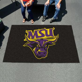 "59.5"" x 94.5"" Minnesota State University - Mankato Black Rectangle Ulti Mat"