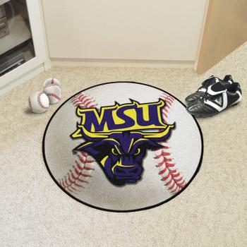 """27"""" Minnesota State University - Mankato Baseball Style Round Mat"""