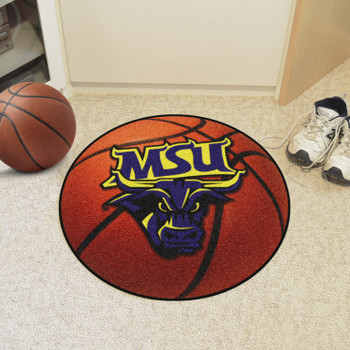 """27"""" Minnesota State University - Mankato Basketball Style Round Mat"""