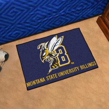 "19"" x 30"" Montana State University Billings Blue Rectangle Starter Mat"