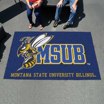 "59.5"" x 94.5"" Montana State University Billings Blue Rectangle Ulti Mat"