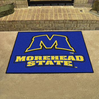 "33.75"" x 42.5"" Morehead State University All Star Blue Rectangle Mat"