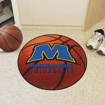 "27"" Morehead State University Orange Basketball Style Round Mat"