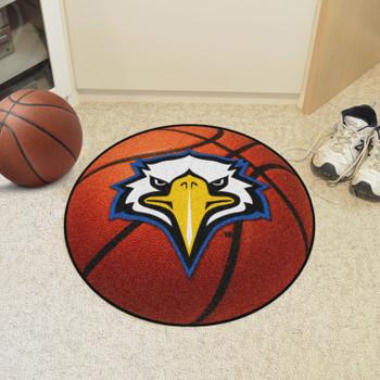 """27"""" Morehead State University Eagle Logo Orange Basketball Style Round Mat"""
