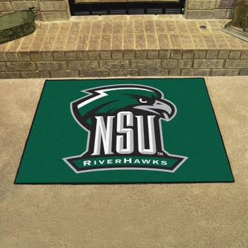 "33.75"" x 42.5"" Northeastern State University All Star Green Rectangle Mat"