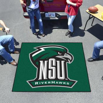 "59.5"" x 71"" Northeastern State University Green Tailgater Mat"