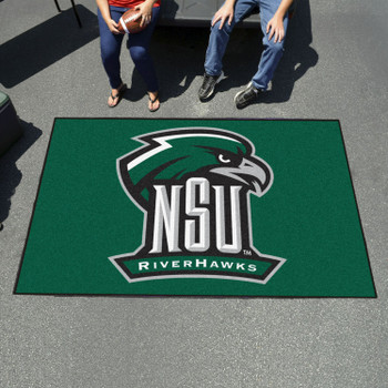 "59.5"" x 94.5"" Northeastern State University Green Rectangle Ulti Mat"