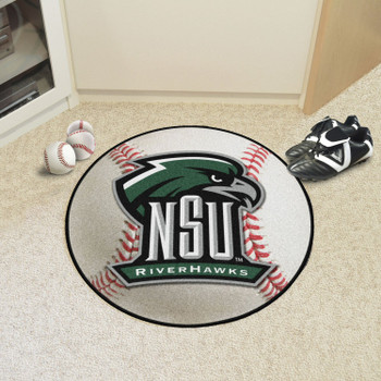 """27"""" Northeastern State University Baseball Style Round Mat"""