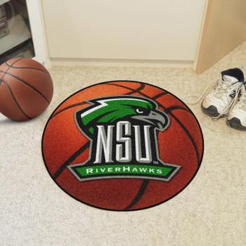 """27"""" Northeastern State University Basketball Style Round Mat"""