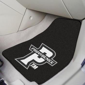 Providence College Black Carpet Car Mat, Set of 2