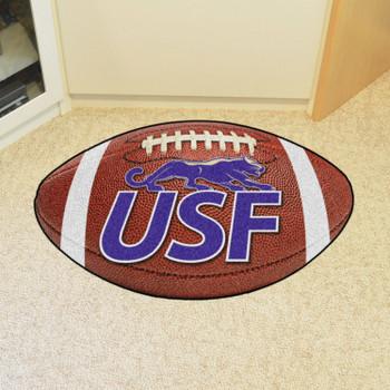 """20.5"""" x 32.5"""" University of Sioux Falls Football Shape Mat"""