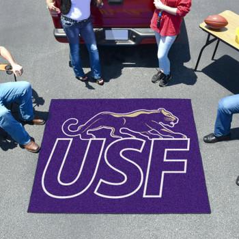 "59.5"" x 71"" University of Sioux Falls Purple Tailgater Mat"