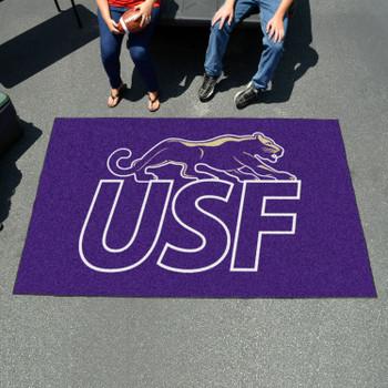 "59.5"" x 94.5"" University of Sioux Falls Purple Rectangle Ulti Mat"